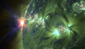 Erupce třídy X pohledem SDO. Foto: NASA