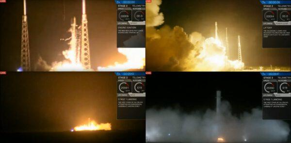 Start a přistání Falconu 9. Zdroj: SpaceX