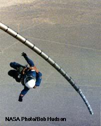 Testy teleskopické únikové tyče