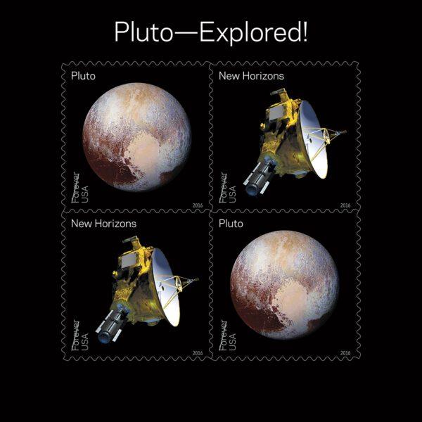 Poštovní známky s New Horizons a Plutem