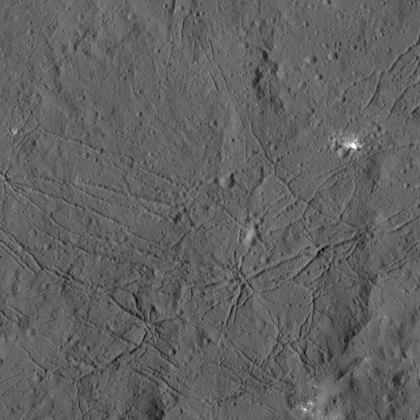 Kráter Dantu na Ceres. NASA/JPL-Caltech/UCLA/MPS/DLR/IDA