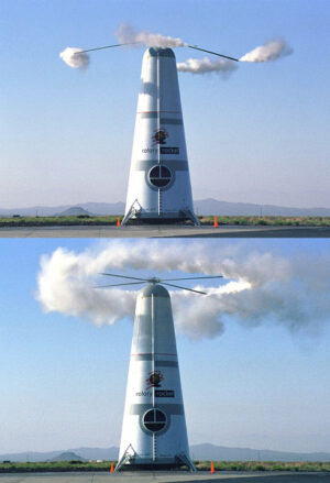 Atmosférický testovací exemplář rakety Roton