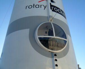 Kokpit testovacího exempláře rakety Roton