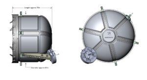 Navrhovaná přechodová komora Doorway to Space