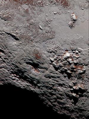 Možný kryovulkán Wright Mons na Plutu