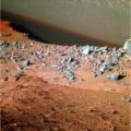 Sol 4267 okolí vozítka večer před 12. výročím. NASA/JPL-Caltech/MSSS