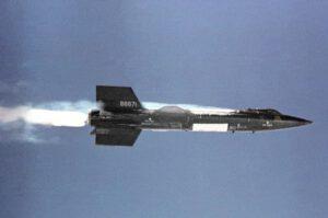 X-15 po zážehu motoru