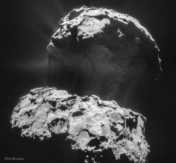 Snímek kometárního jádra ze 3. února.