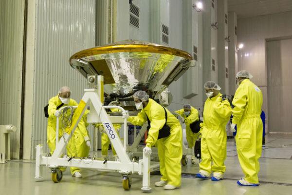 Dokončený lander EDM (Schiapaerlli