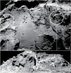 Oblasti s vysokou koncentrací vodního ledu v regionu Imhotep.