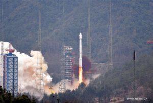Start rakety CZ-3C s Beidou-21 1.2.2016. Zdroj: CNTV