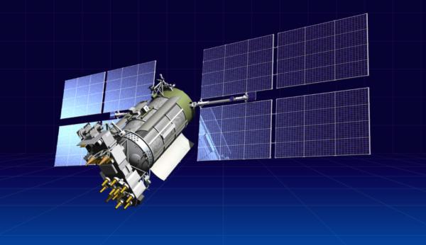 Glonass-M v letové konfiguraci. Zdroj: ISS-Rešetněv