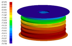 Simulace tepelných podmínek HEPA filtru pro modul EDM (Schiaparelli)