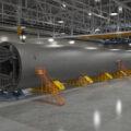 Umělecká představa SLS pathfinderu ve výrobní hale