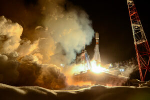 Start Sojuzu 2-1B s družicí Glonass. Zdroj: Ruské ministerstvo obrany
