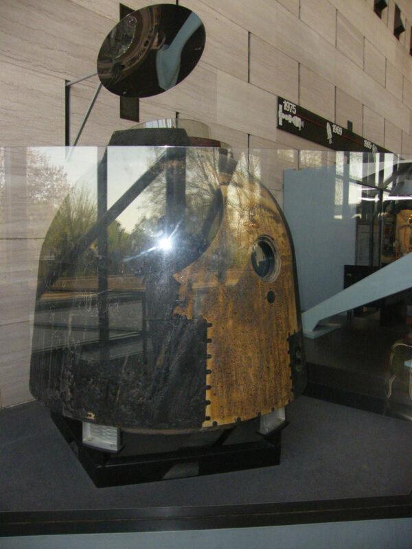 Sojuz TM10 v Národním muzeu letectví a kosmonautiky (WashingtonD.C.).