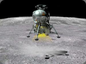 Co by bylo, kdyby... Sovětský modul LK dosedá na povrch Měsíce.