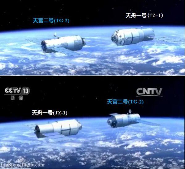 Plánované setkání na oběžné dráze - Tiangong 2 a Tiančou 1