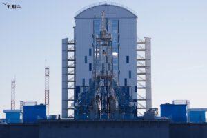 Obslužná věž na startovní rampě pro rakety Sojuz