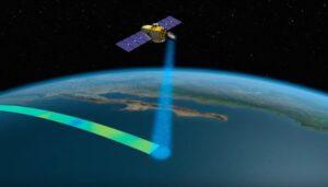 Vizualizace družice Jason-3 při snímkování