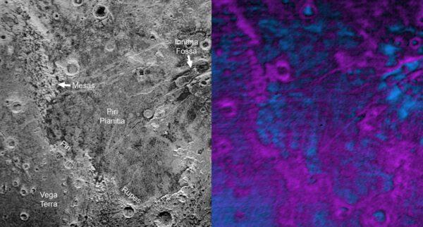 Detail oblasti Piri Planitia