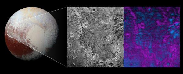 Zajímavá oblast Piri Planitia na Plutu