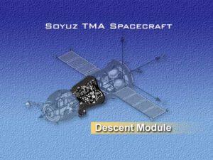 Struktura lodi Sojuz - uprostřed mezi orbitálním a servisním modulem se nachází modul návratový s posádkou