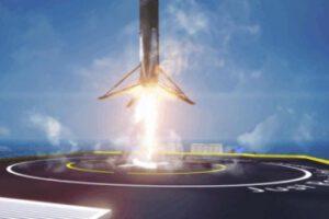 Falcon 9 přistává