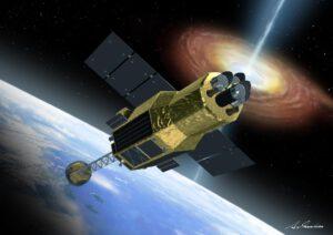 Teleskop Hitomi v představách umělce