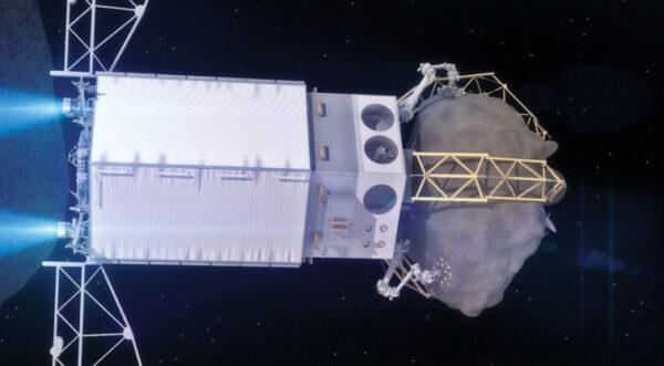 Teoretická podoba nepilotované sondy, která má zajistit přesun asteroidu na oběžnou dráhu Měsíce
