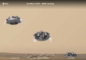 Finální fáze přistání modulu EDM