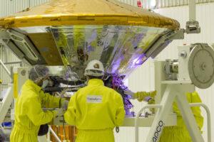 Lander EDM během pozemních příprav