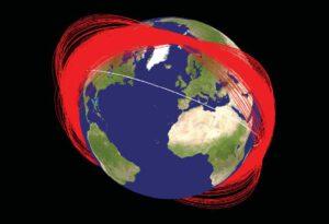 Umelý prstenec Zeme zložený z tisícov úlomkov zámerne zničenej družice Fengyun-1C