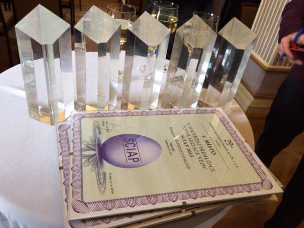 Ceny ze soutěže SCIAP 2015