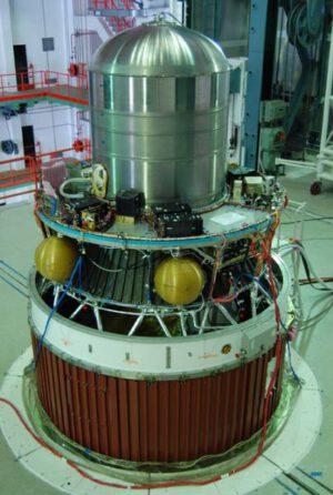 Posledný stupeň indickej rakety PSLV