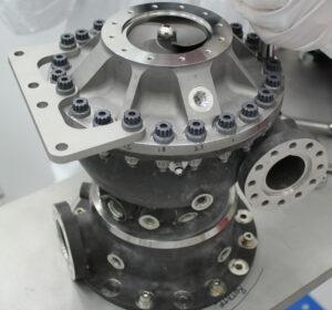 3D vytištěné turbočerpadlo. Při čerpání kapalného metanu rotovalo rychlostí 36 000 otáček/ minutu, ale při loňských zkouškách s vodíkem zvládlo i 90 000 otáček / minutu