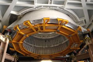 Aft Skirt pathfinderu SRB je v budově RSPF