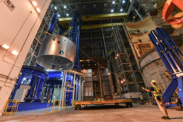 Dokončený segment pro raketu SLS