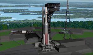 Raketa Vulcan s čtyřmetrovým aerodynamickým krytem