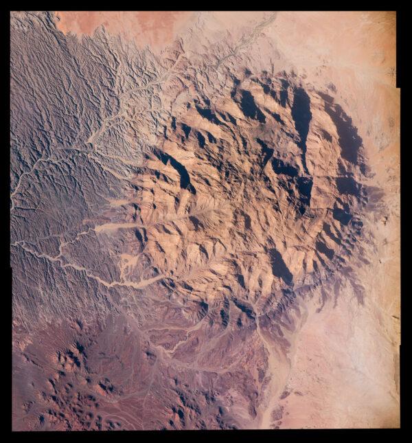 Hora Brandberg ve stejnojmenném národním parku v Namíbii