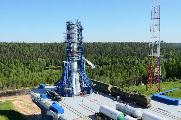 Kosmodrom Pleseck je situován v hustých lesích