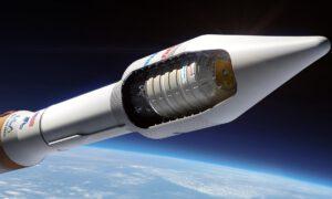 Vizualizace Cygnusu na raketě Atlas V.