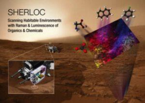 Vědecký přístroj SHERLOC pro vozítko Curiosity