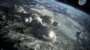 stavba lunární vesničky zdroj:esa.int