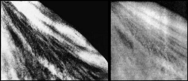 Příklad snímků orbitálními moduly Veněry 9 a 10. Don P. Mitchell