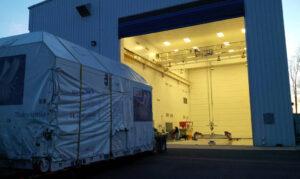 Nákladní modul lodi Cygnus dorazil na kosmodrom.