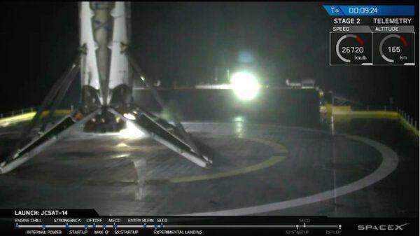 Falcon 9 podruhé přistál na plovoucí plošině