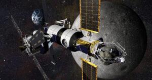 Již dříve představená podoba habitatu a Orionu pro průzkum asteroidu.