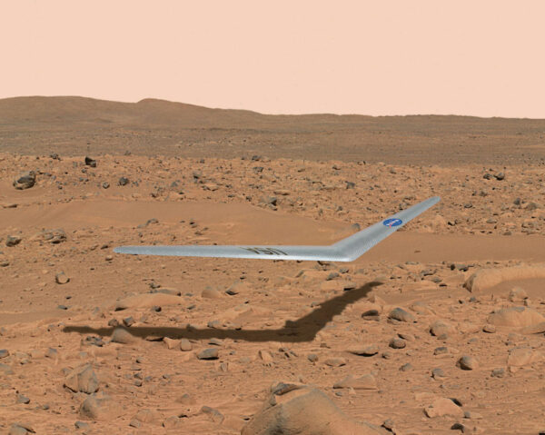 Letecké průzkumné drony by mohly být přímo ovládané z orbitální stanice nad Marsem a hledat vhodné místo pro přistání posádky