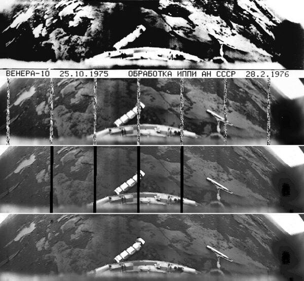 Veněra 10 foto z povrchu. Zpracoval Don. P. Mitchell